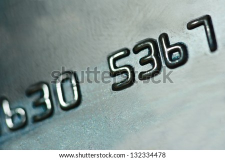 number on credit card, bcakground - stock photo