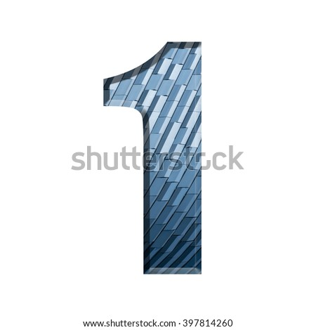 Number on geometric pattern texture isolate on white background