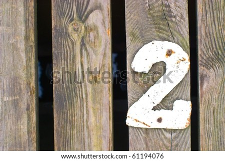 number on painted background, more in this number series - stock photo