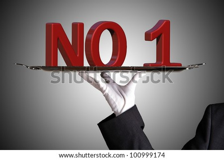 Number one in business - stock photo