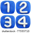 number plasticine - stock photo