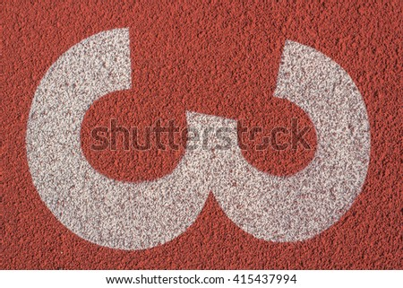 Number 3,Running track for the athletes background - stock photo