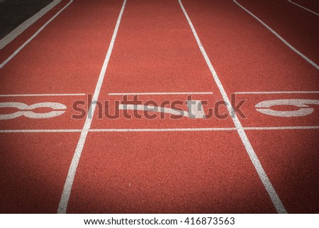 Number 7, Running track for the athletes background