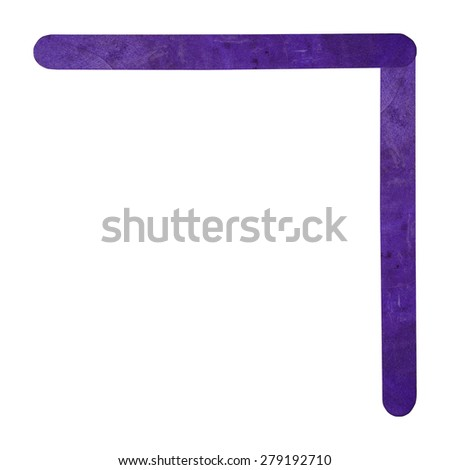 Number 7 separated by violet wood stick on isolated white background - stock photo