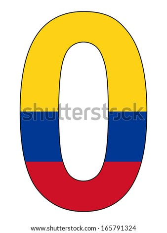 Number series with flag inside - Colombia