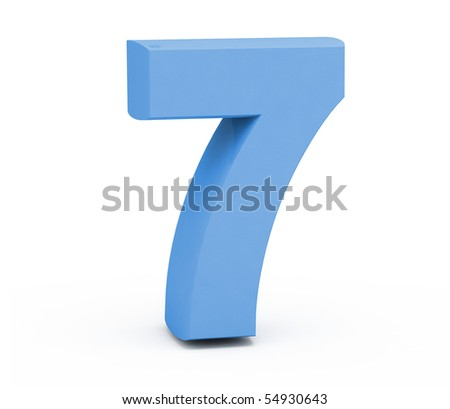 Number seven on a white background.