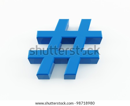 Number sign - stock photo
