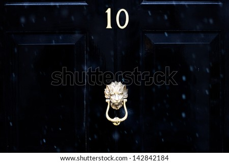 Number ten - stock photo