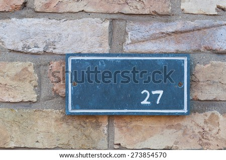 Number twenty seven sign - stock photo