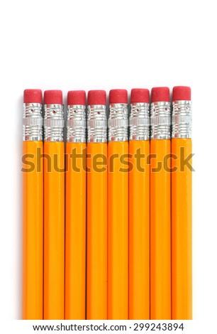 Number 2 Wooden Pencils - stock photo
