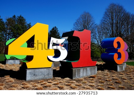 number yard - stock photo