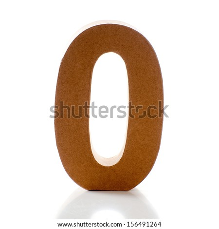 Number Zero on a white background - stock photo