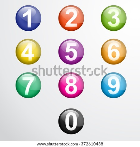 Numbers from numbers set illustration. - stock photo