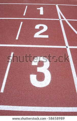 Numbers of track lanes in sports runway