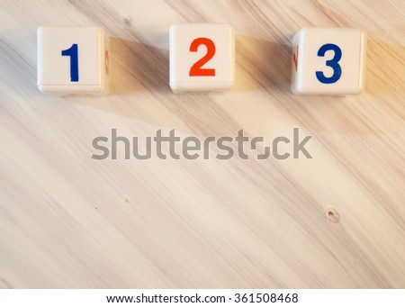 numbers on a white background - stock photo