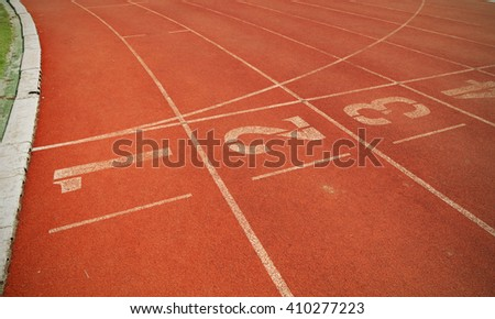 Numbers on running track vintage tone style