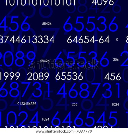 Numbers. Seamless wallpaper. Vector version - in my portfolio