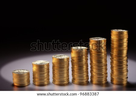 numbers stack of coin form a graph