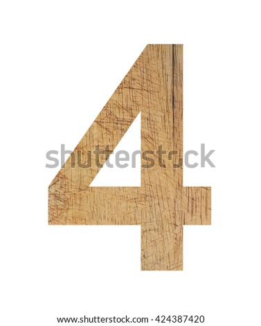 numbers wood design icon on white background