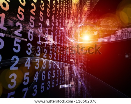 Numeric Information Stream - stock photo