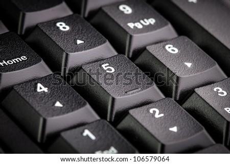 Numeric keyboard - stock photo