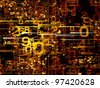 Numeric network background suitable as a backdrop for projects on technology, networks, computing and digital communications - stock photo