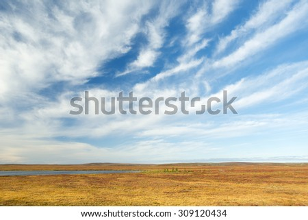 Nunavut Landscape in Northern Canada - stock photo