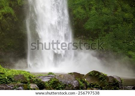Nung nung waterfall in Bali, Indonesia - stock photo