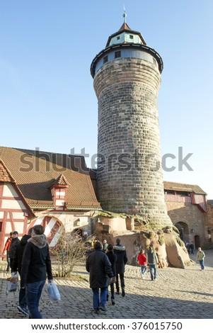 NUREMBERG, GERMANY -Dec. 20, 2015: Imperial Castle (Kaiserburg) in Nuremberg, Germany. - stock photo