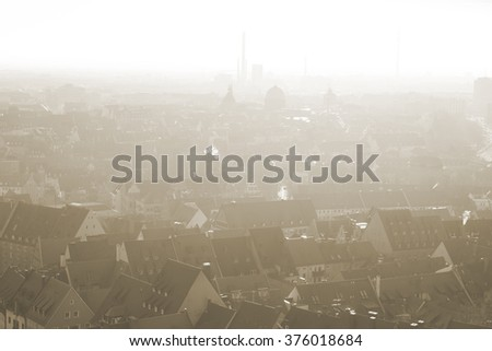 Nuremberg. Image of historic downtown of Nuremberg, Germany