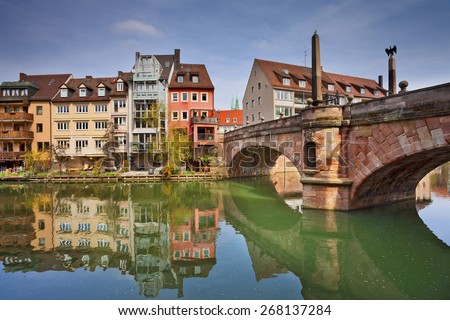 Nuremberg. Image of the Nuremberg old town during sunny spring day. - stock photo