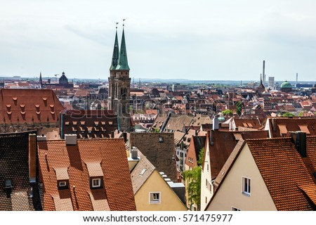 Nuremberg old town, cityscape, Germany