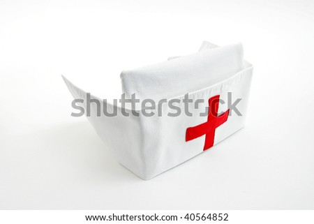 Nurse cap, isolated on white
