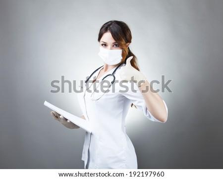 Nurse. Portrait on young woman nurse   - stock photo
