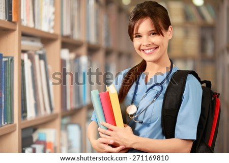 Nurse, Student, Education. - stock photo