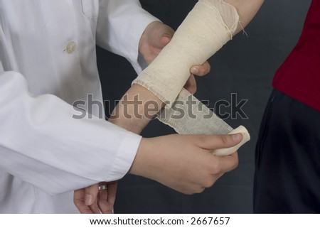 nurse with band - stock photo