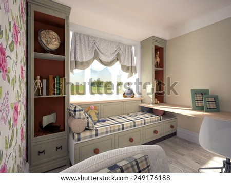 nursery  3D rendering  - stock photo
