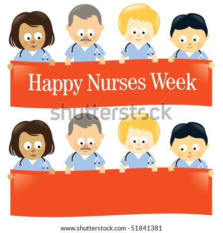 Nurses Week MultiEthnic - JPEG format. Vector ID: 51093253 - stock photo
