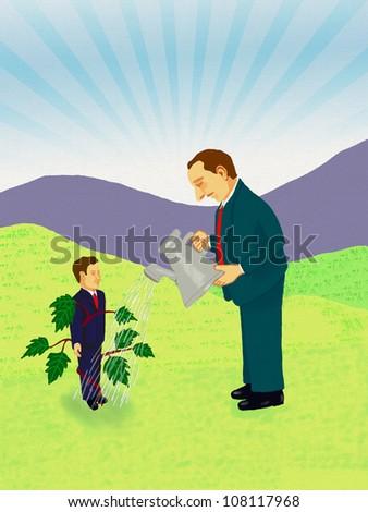 Nurturing Talent Concept - stock photo