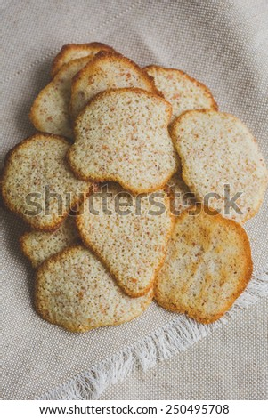 Nut cookies - stock photo