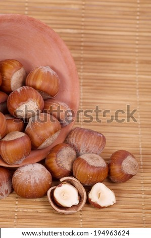 Nut mixture in a bowl - stock photo