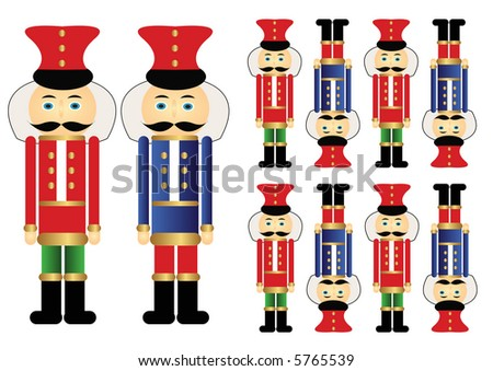 Nutcracker Soldiers - stock photo