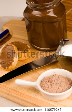 Nutella spread ingredients in a sweet still life