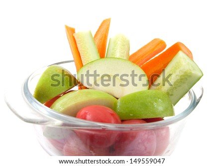 Nutrient apple,tomato,cucumber,carrot and apple for mix juice