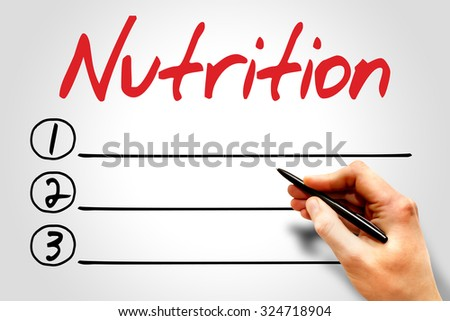 Nutrition blank list, fitness, sport, health concept - stock photo