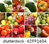 Nutrition collage of nine pictures - stock photo