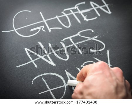 Nutrition concept - restricting diet - stock photo