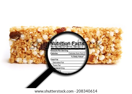 Nutrition facts - stock photo