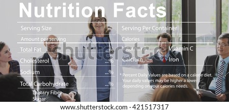 Nutrition Facts Medical Diet Nutritional Concept