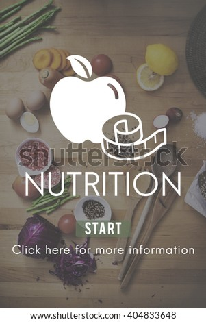 Nutrition Healthy Eating Diet Food Nourishment Concept - stock photo
